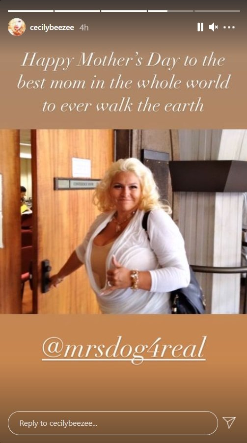 Cecily Chapman shares a Mother's Day message to her late mother Beth Chapman | Photo: Instagram Story/cecilybeezee