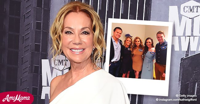 Kathie Lee Gifford From Today Poses With Her Kids Their