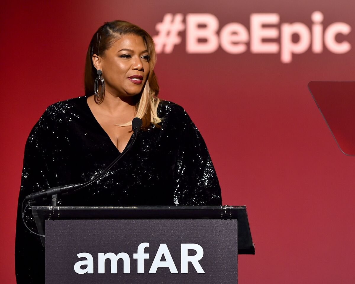 Queen Latifah speaks onstage during the 2018 amfAR Gala New York at Cipriani Wall Street on February 7, 2018 in New York City | Photo: Getty Images