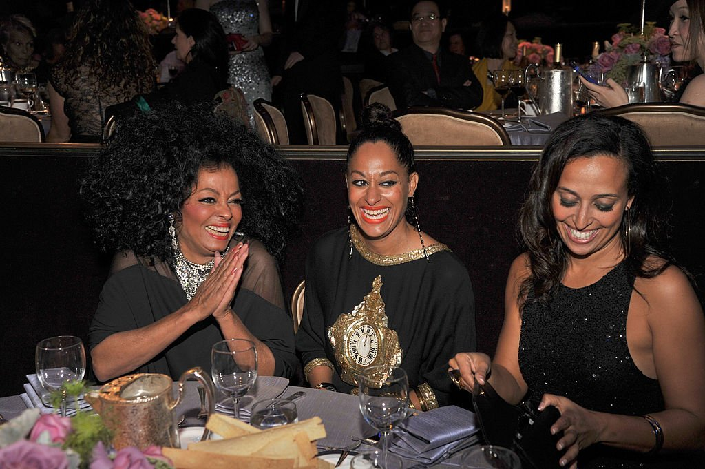 Diana Ross, Tracee Ellis Ross and Chudney Lane Silberstein attend Clive Davis and The Recording Academy's 2012 Pre-GRAMMY Gala at The Beverly Hilton hotel on February 11, 2012 in Beverly Hills, California | Photo: Getty Images