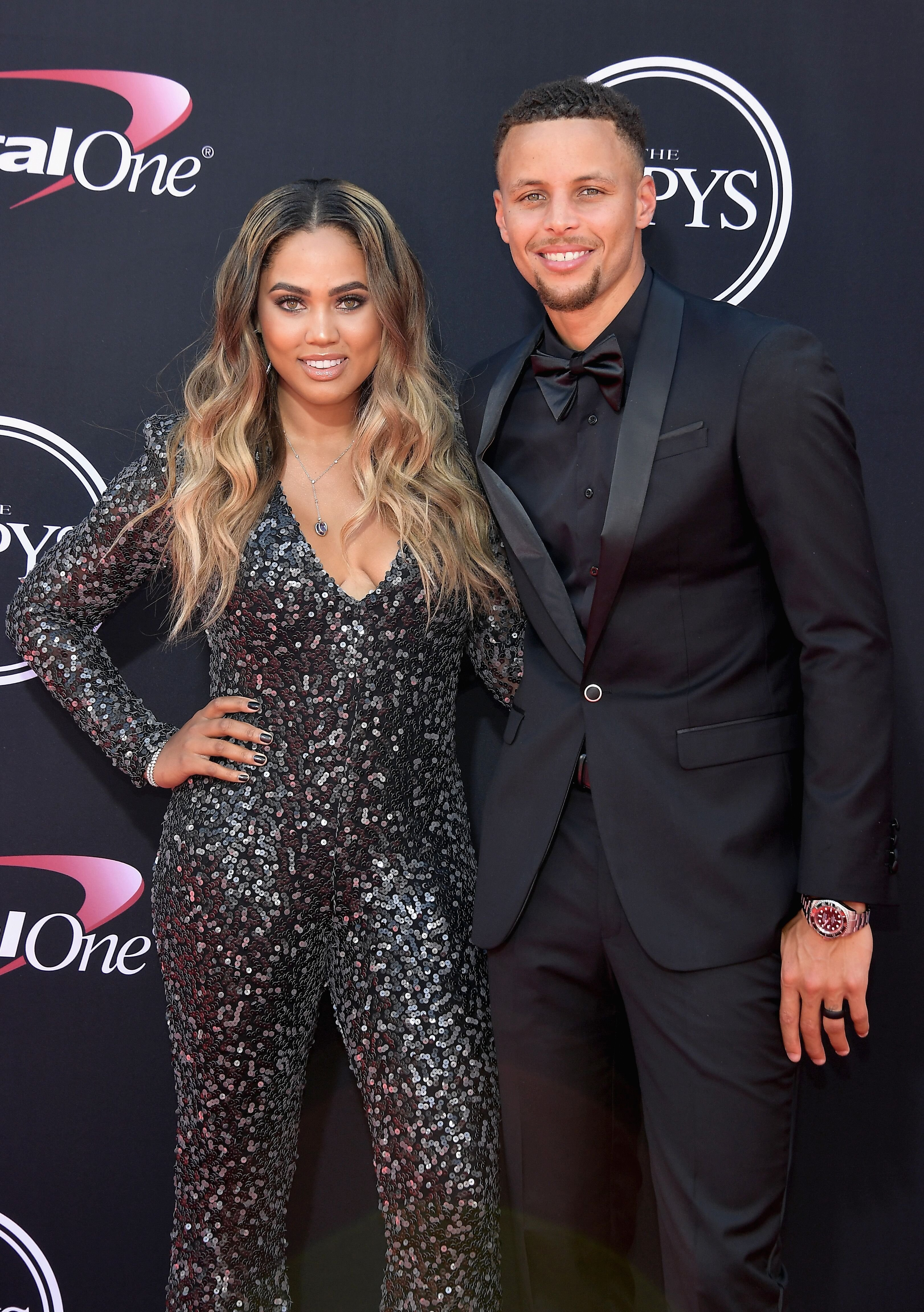 Ayesha and Stephen Curry at The ESPYS at Microsoft Theater on July 12, 2017 in Los Angeles, California.   Source: Getty Images