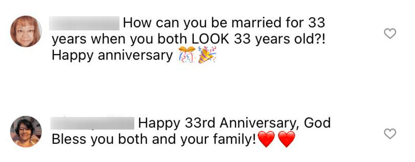 Fans comment on Janet Jones' post as she and her husband Wayne Gretzky celebrate more than 30 years of marriage   Source: Instagram/@janetgretzky