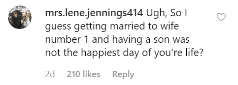 Fan's comment on Chris Pratt's wedding image | Photo: Instagram/prattprattpratt