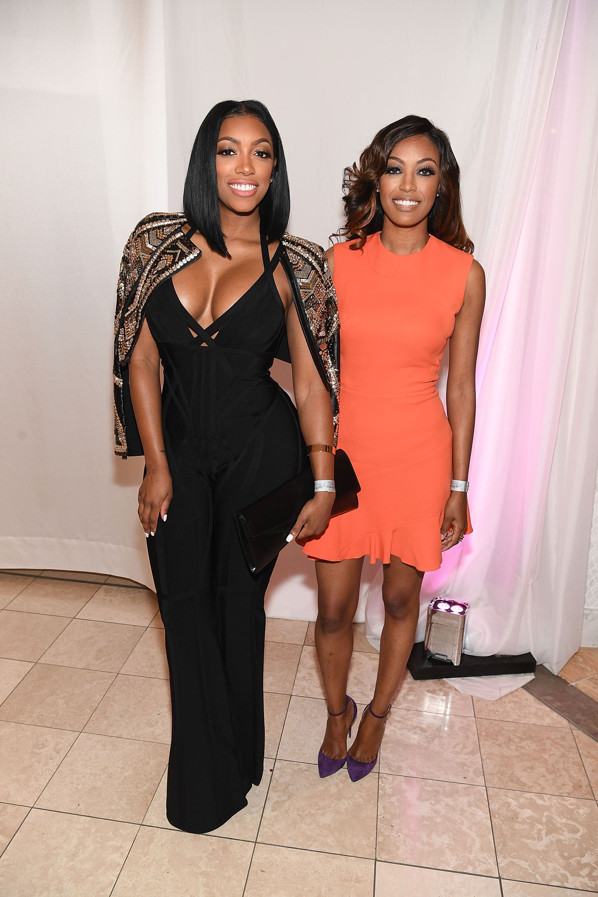 Porsha Williams and sister Lauren Williams at the 2016 Jeffrey Fashion Cares Atlanta in August 2016 in Atlanta, Georgia | Source: Getty Images