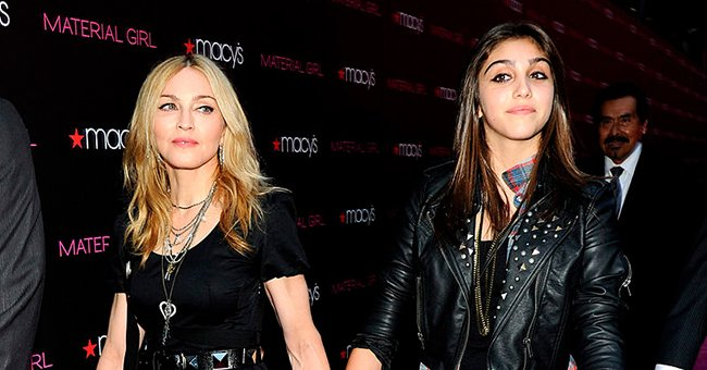 """Lourdes Leon and Madonna pictured at the launch of """"Material Girl"""" at Macy's Herald Square, 2010, New York City. 
