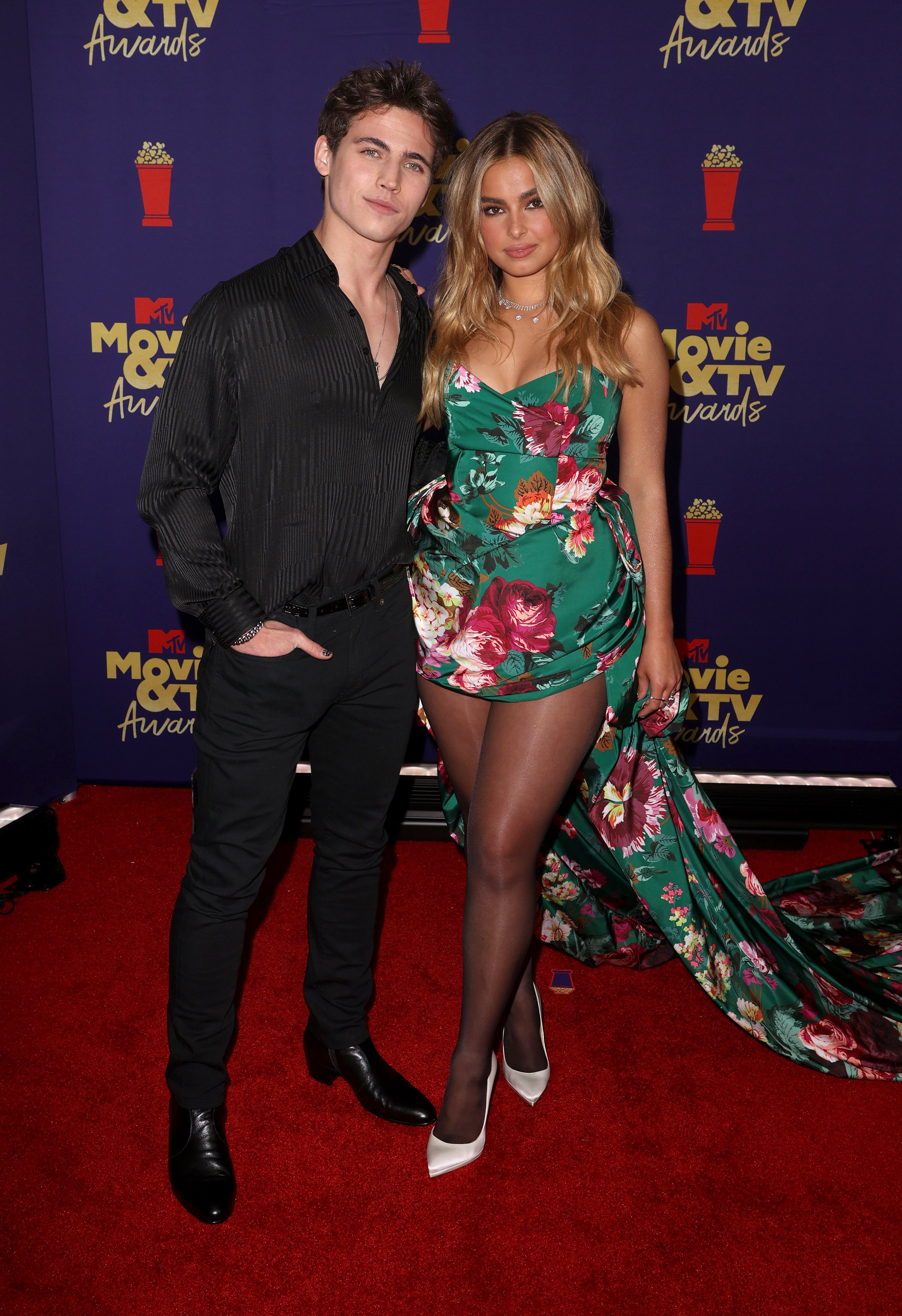 Tanner Buchanan and Addison Rae at the MTV Movie & TV Awards on May 16, 2021   Photo: Getty Images