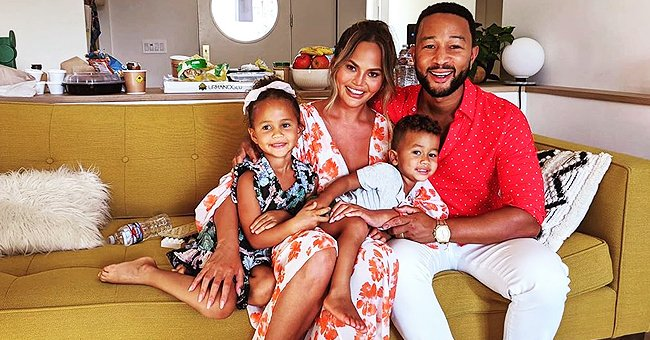 Chrissy Teigen Proudly Shares Son Miles Reading a Book in a Cute Photo