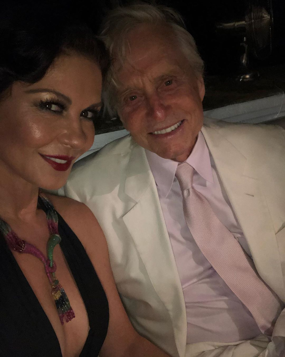 Catherine Zeta-Jones and Michael Douglas Attend Gatsby-Themed Party of Socialite Lawrence Stroll
