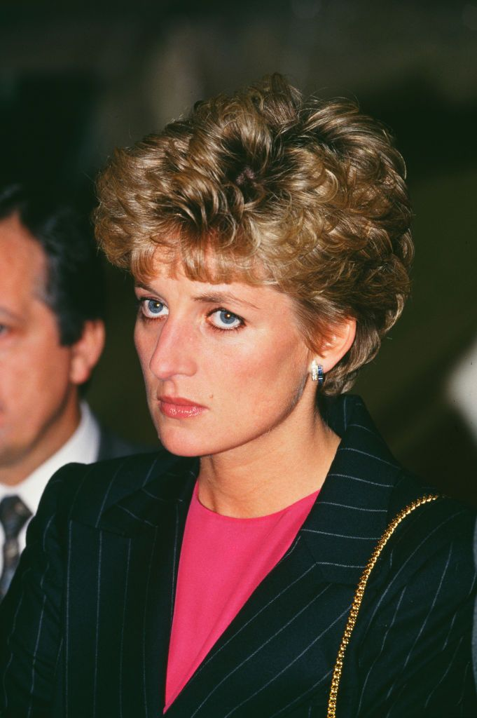Princess of Wales at the headquarters of the International Aid Operation of the British Red Cross, in Kingsbury, London, England, 19th January 1993 | getty Images