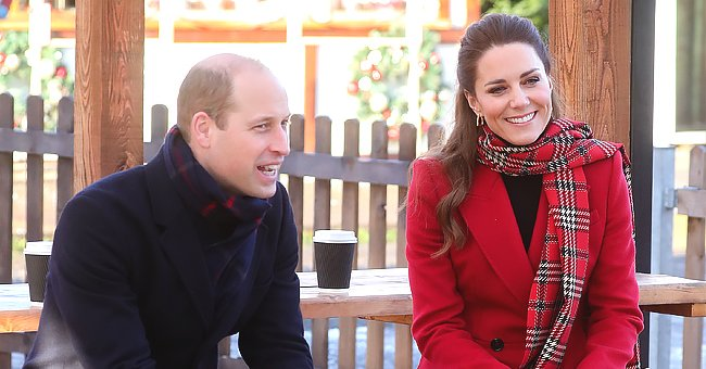 Kate Middleton Toasts Marshmallows in Cardiff in Red Alexander McQueen Coat with Prince William
