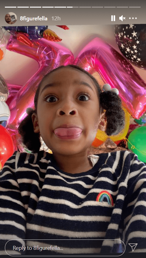 Charli's dad shares a picture of her in tribute to her 7th birthday. | Photo: Instagram.com/8figurefella