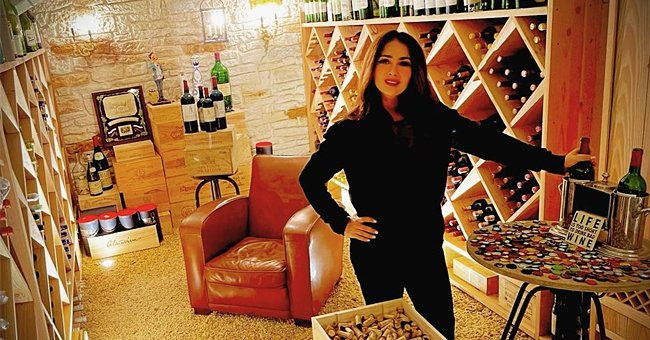 Salma Hayek Shows off Her Cozy Wine Cellar as She Prepares for Christmas Dinner