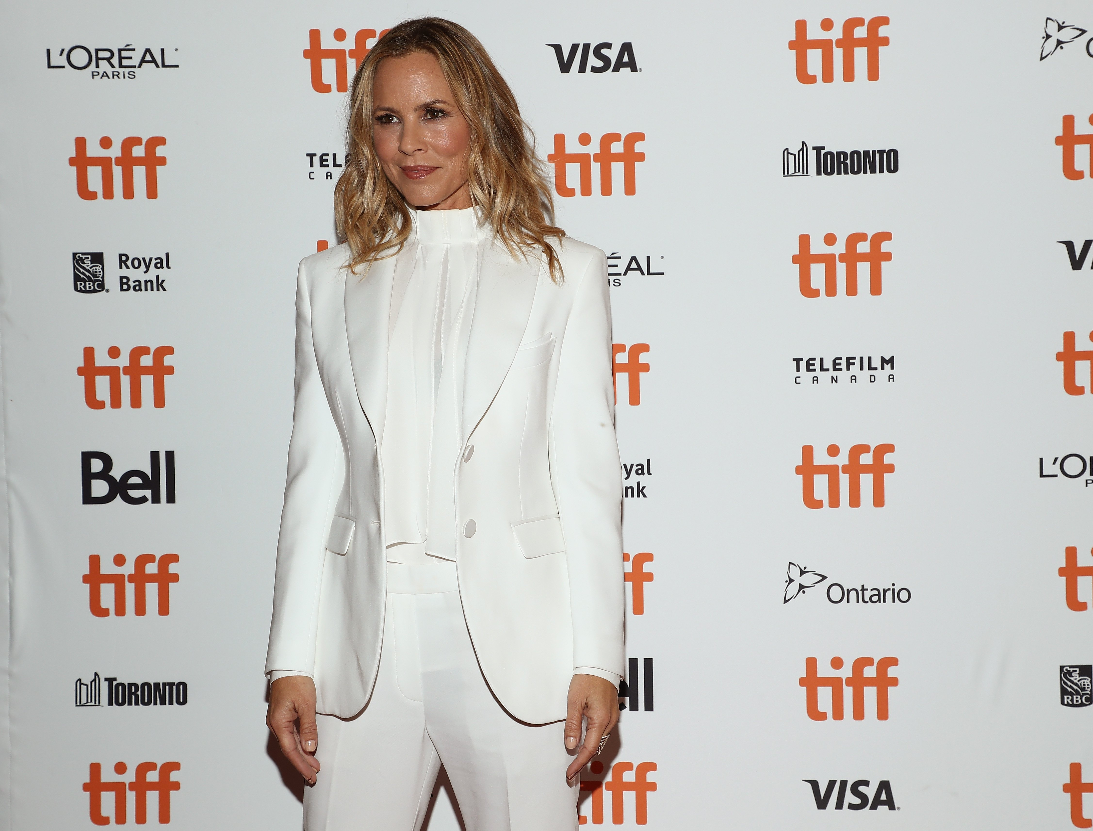 "Maria Bello attends the ""Giant Little Ones"" premiere during 2018 Toronto International Film Festival at The Elgin on September 9, 2018 