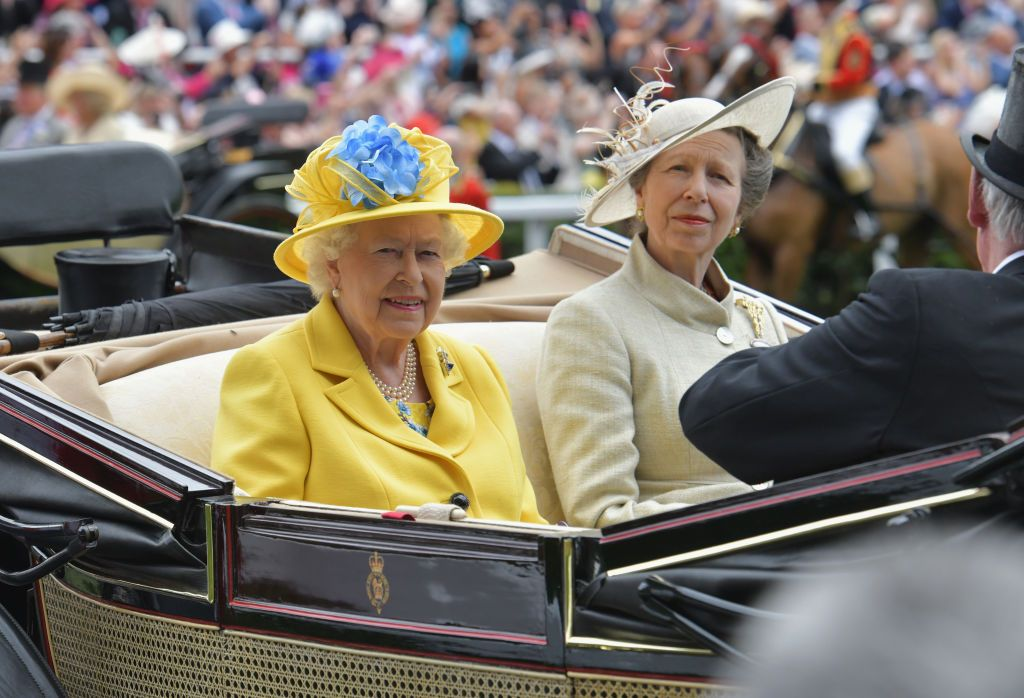 Queen Elizabeth II and Princess Anne, Princess Royal arriving on day 1 of Royal Ascot at Ascot Racecourse in Ascot, England | Photo: Kirstin Sinclair/Getty Images for Ascot Racecourse