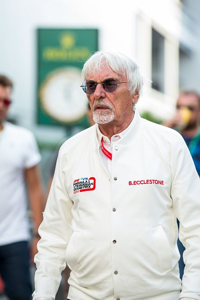 Bernie Ecclestone of Great Britain during qualifying for the F1 Grand Prix of Russia at Sochi Autodrom on September 28, 2019 in Sochi, Russia   Photo: Getty Images