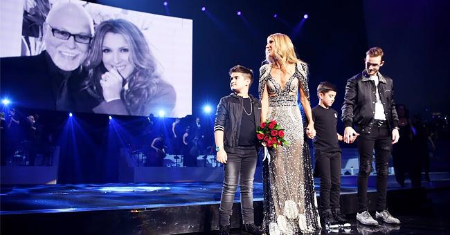 Céline Dion et les enfants honorent le défunt mari à son dernier spectacle à V