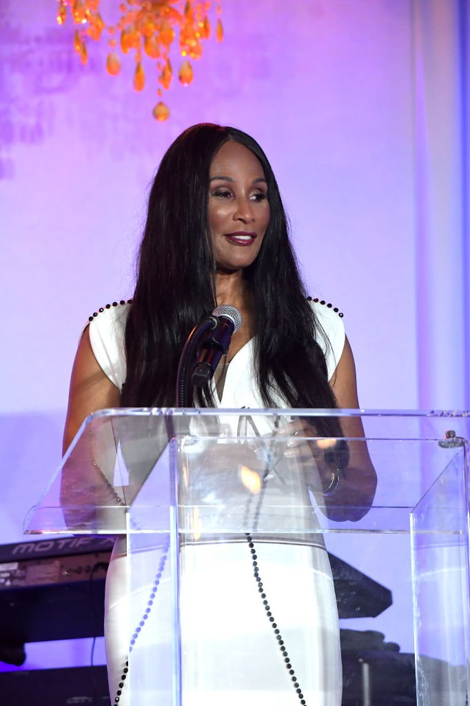 Beverly Johnson speaks onstage during Project Angel Food's 29th Annual Angel Awards | Photo: Getty Images