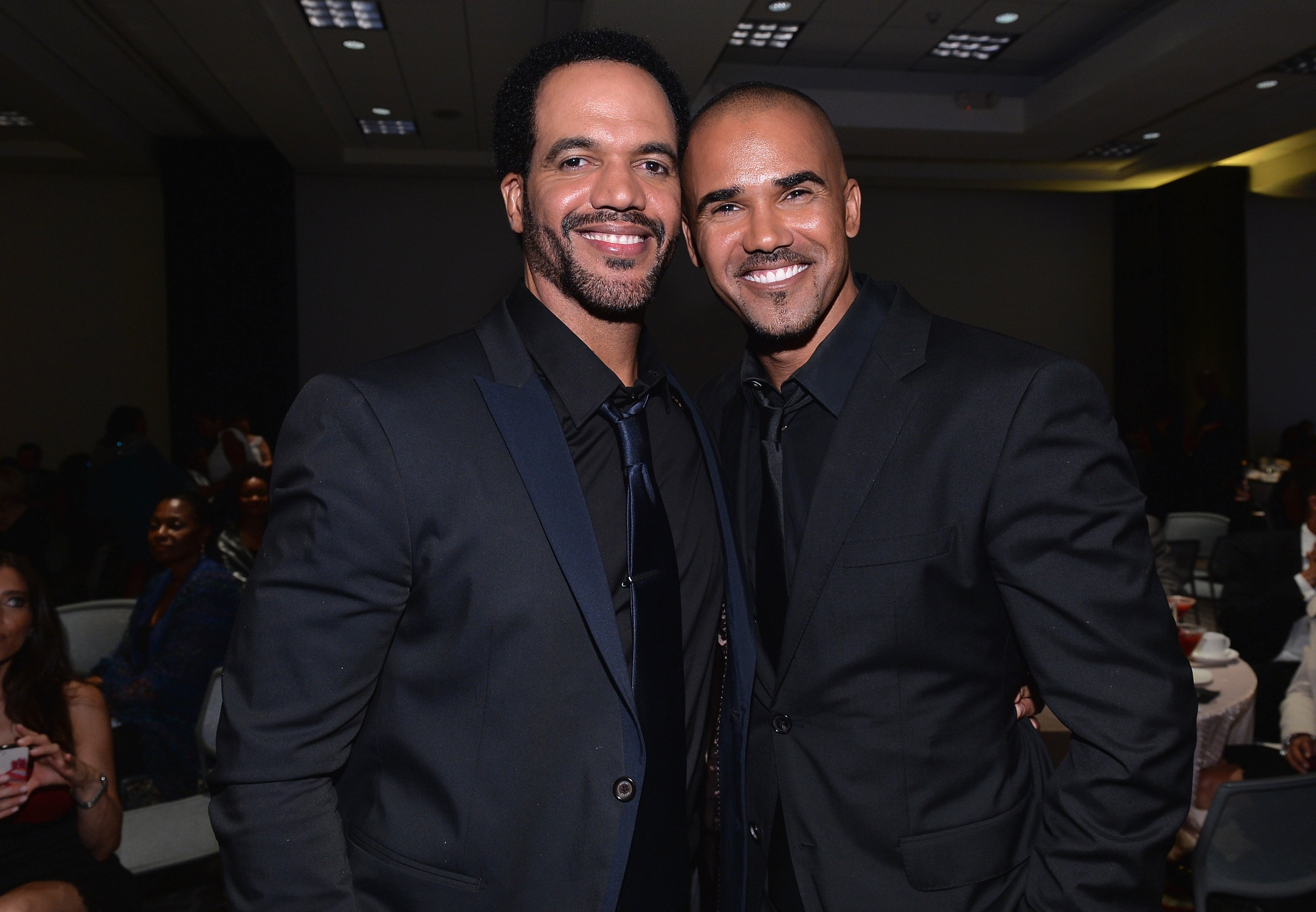 Actors Kristoff St. John and Shemar Moore attend the 45th NAACP Awards Non-Televised Awards Ceremony at the Pasadena Civic Auditorium on February 21, 2014 in Pasadena, California / Source: Getty Images
