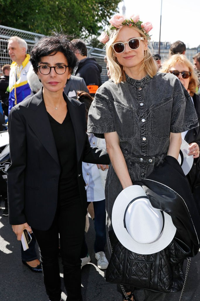 Rachida Dati et Diane Kruger assistent à l'ABB FIA Formula E Paris E-Prix 2019 le 27 avril 2019 à Paris, France | Photo : Getty Images.