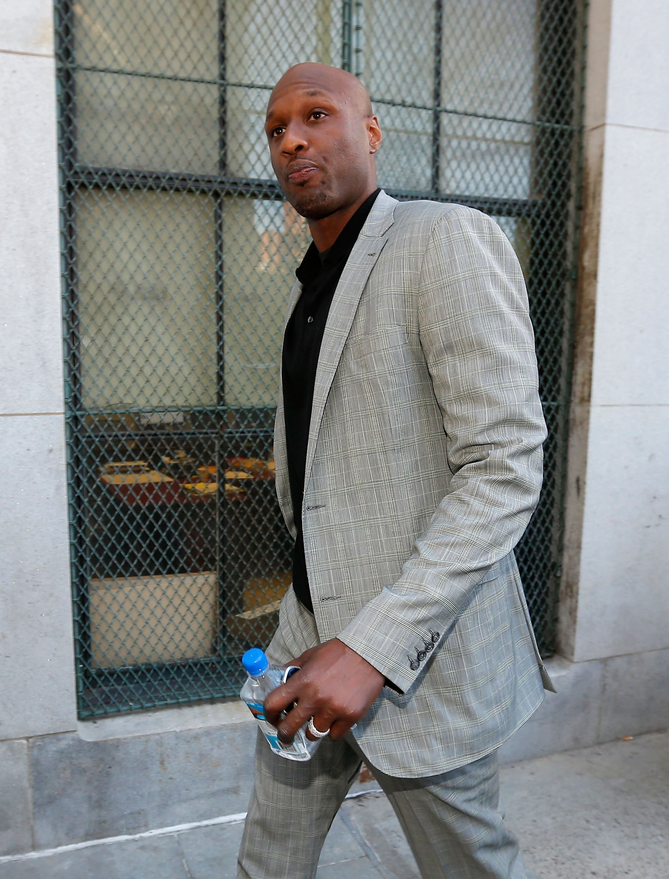 Lamar Odom at a custody hearing with ex-partner Liza Morales on March 5, 2013 in New York City | Photo: Getty Images