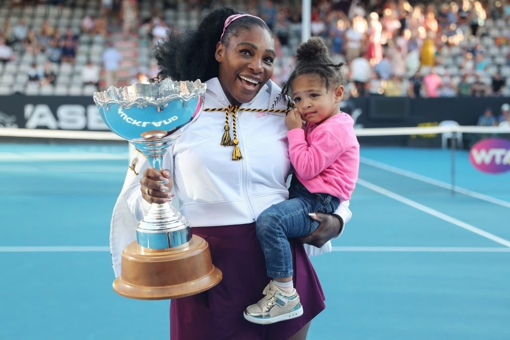 Serena Williams and Olympia at the ASB Classic, January 2020 | Source: Getty Images