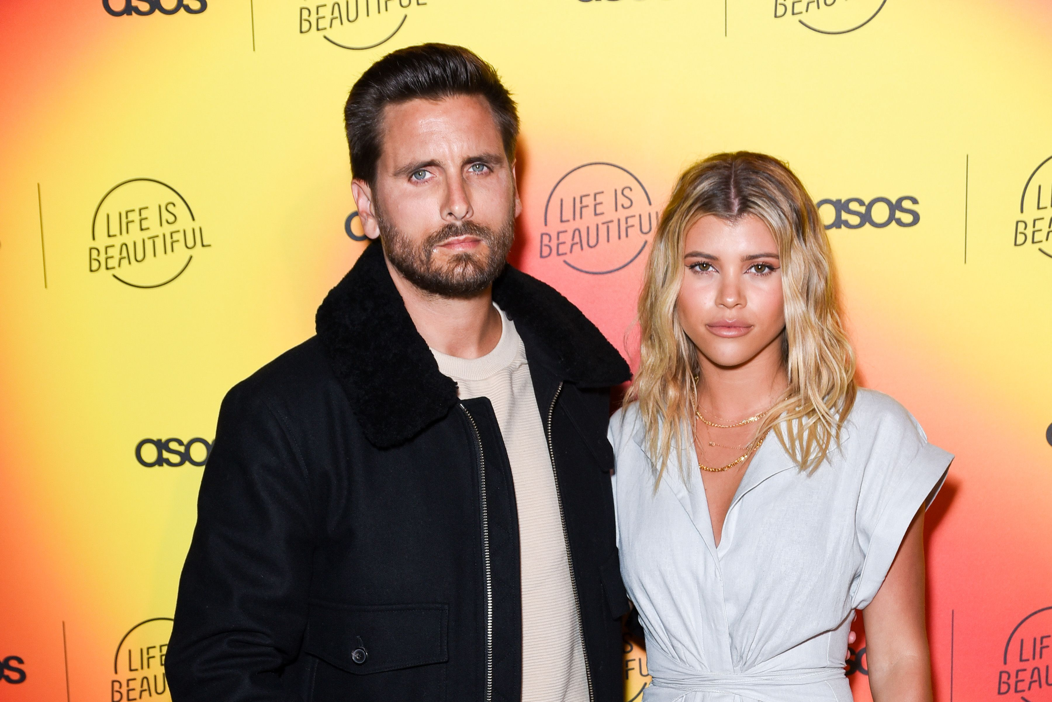 Scott Disick and Sofia Richie at a Life Is Beautiful event in 2019 in Los Angeles | Source: Getty Images