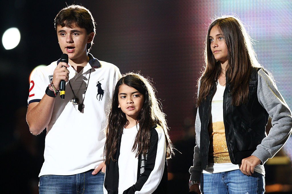 "Michael Jackson's children - Prince, Blanket, and Paris during rehearsals for the ""Michael Forever"" concert in honor of the late King of Pop in October 2011. 