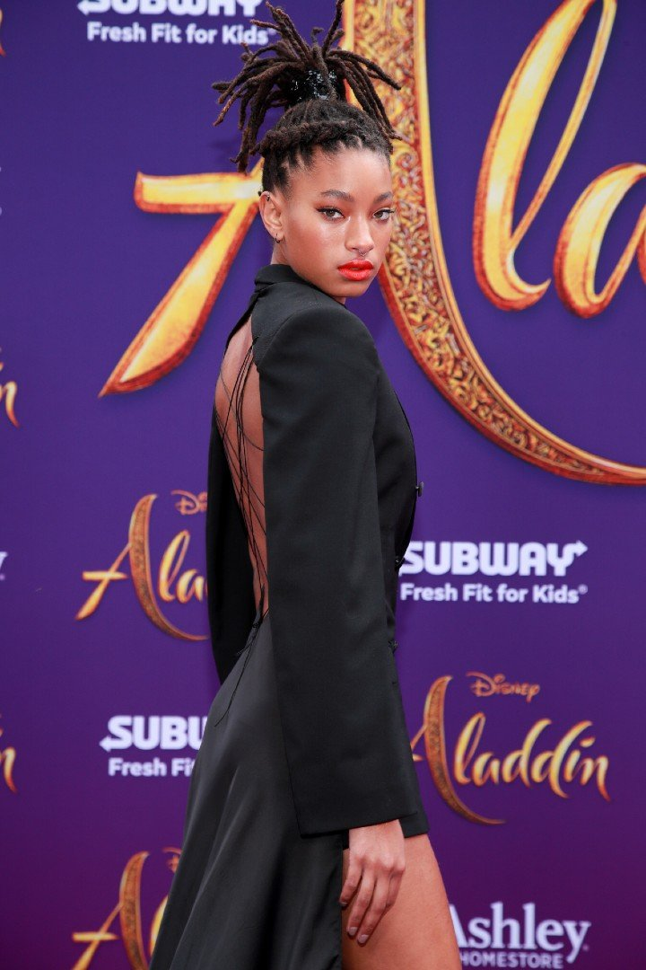 """Willow Smith attending the premiere of """"Aladdin"""" in Los Angeles, California, in May 2019. 