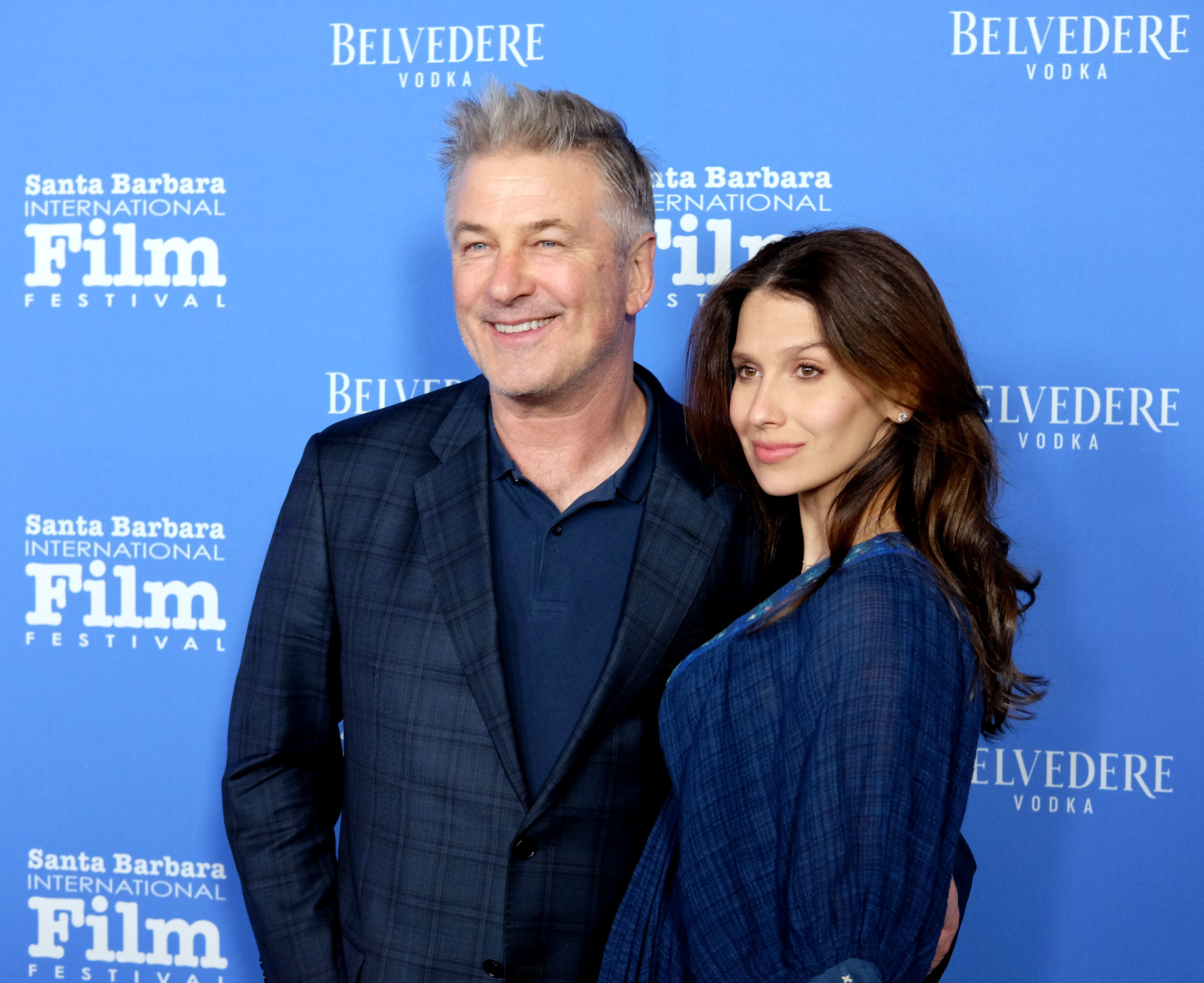"""Alec Baldwin and Hilaria Baldwin at the Opening Night Film """"The Public"""" during the 33rd Santa Barbara International Film Festival at Arlington Theatre on January 31, 2018 