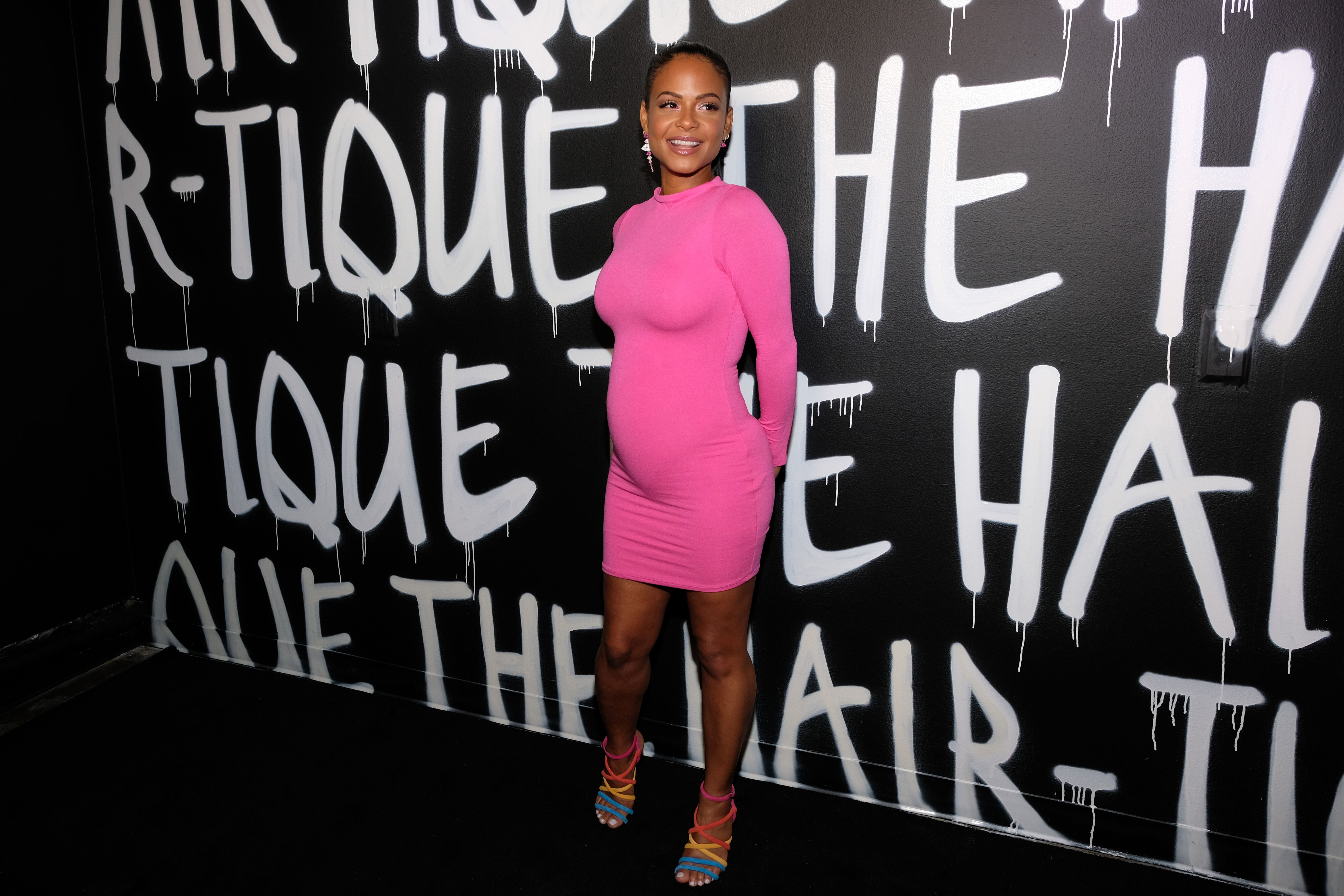 Christina Milian attends an event while pregnant with her second child | Source: Getty Images/GlobalImagesUkraine