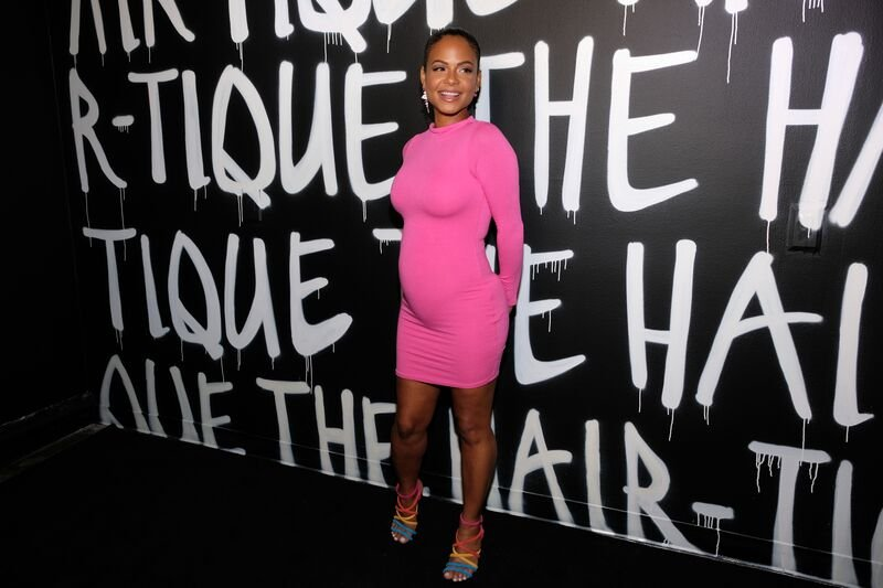 Christina Milian attends a formal event while pregnant with her second child | Source: Getty Images/GlobalImagesUkraine