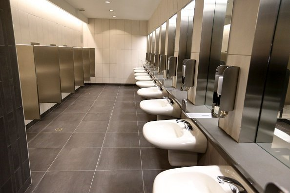 A portion of the gleaming new men's washroom at Union Station | Photo: Getty Images
