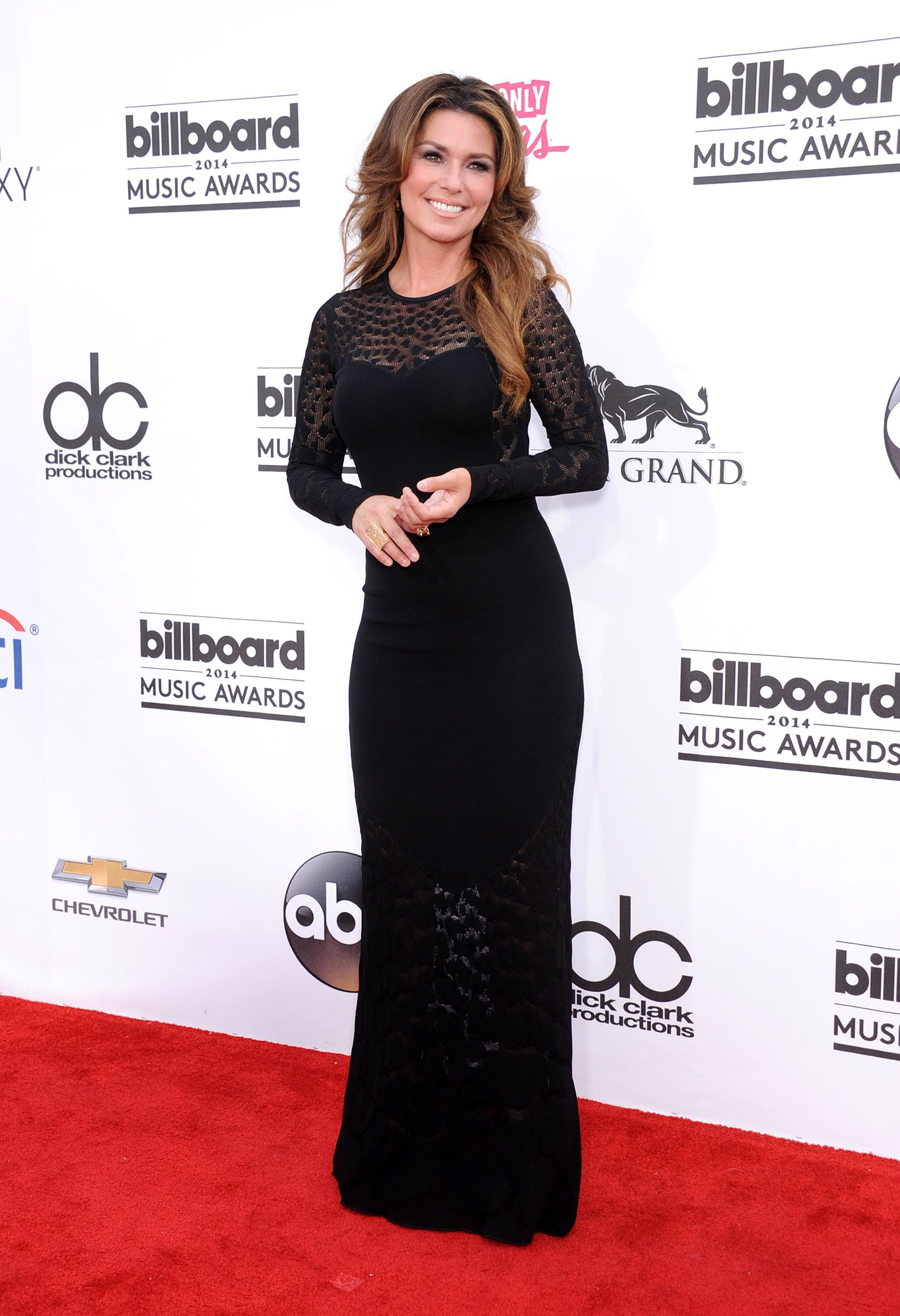 Shania Twain arrives to the Billboard Music Awards 2014. | Source: Shutterstock