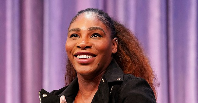 See Serena Williams' Daughter's Cute Brown Eyes as She Drives a Red Jeep in Their Backyard