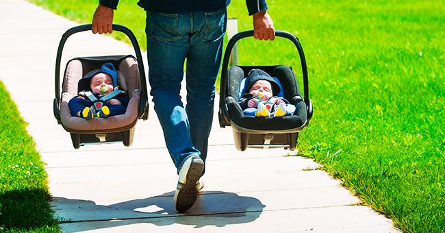 La femme apprend qu'elle est enceinte et rend les jumeaux adoptés