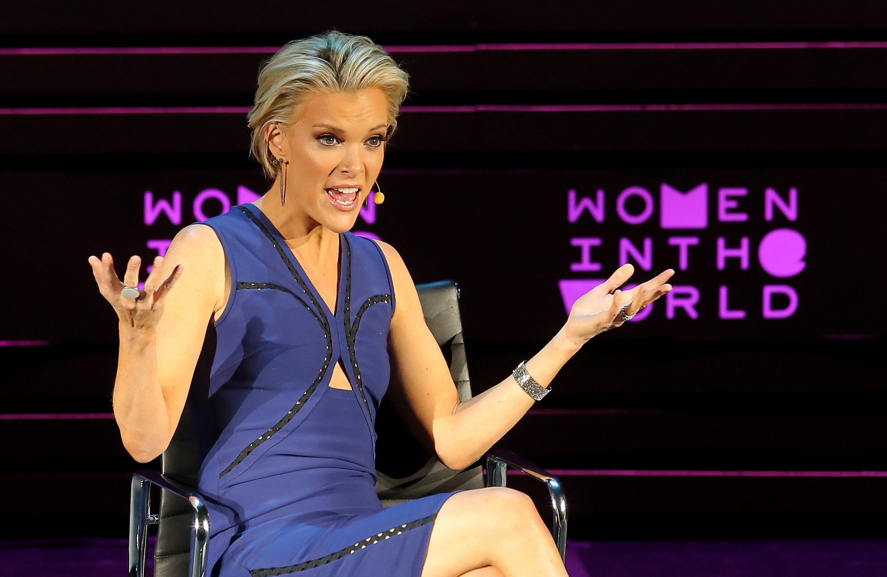 Megyn Kelly speaks onstage at the 7th Annual Women In The World Summit on April 6, 2016, in New York City. | Source: Getty Images.