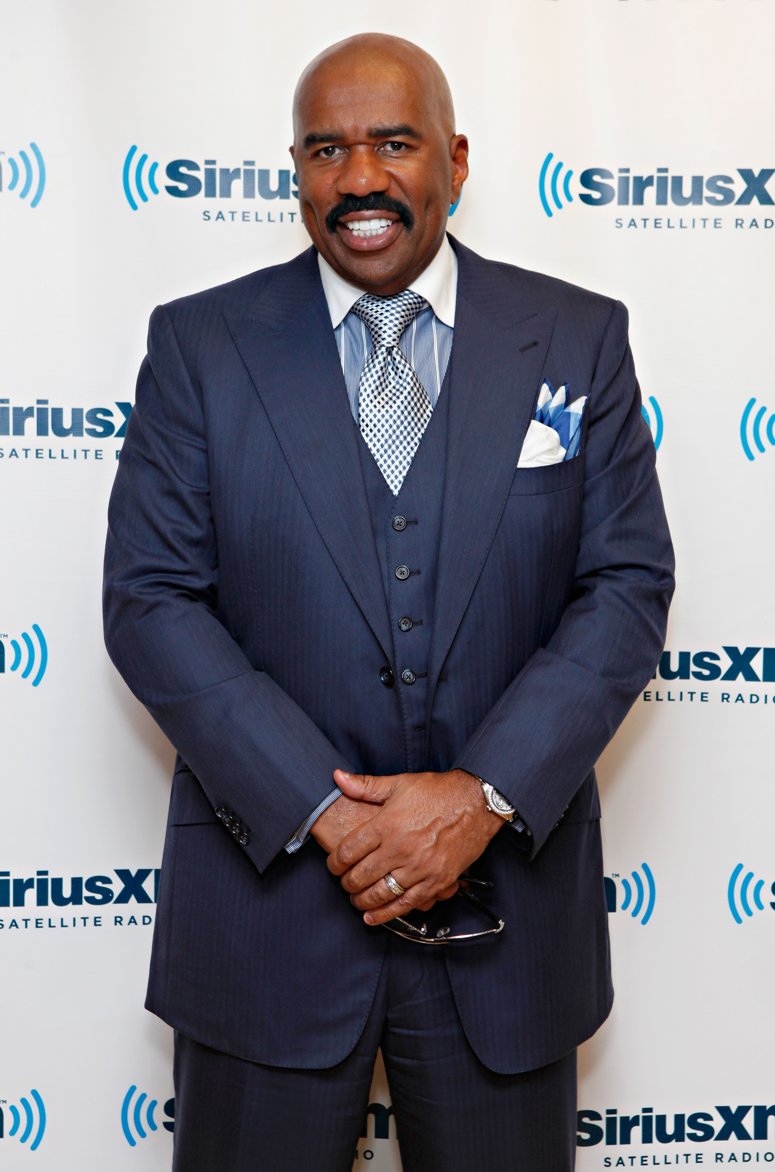 Steve Harvey at the SiriusXM Studio on August 29, 2012 in New York City. | Source: Getty Images
