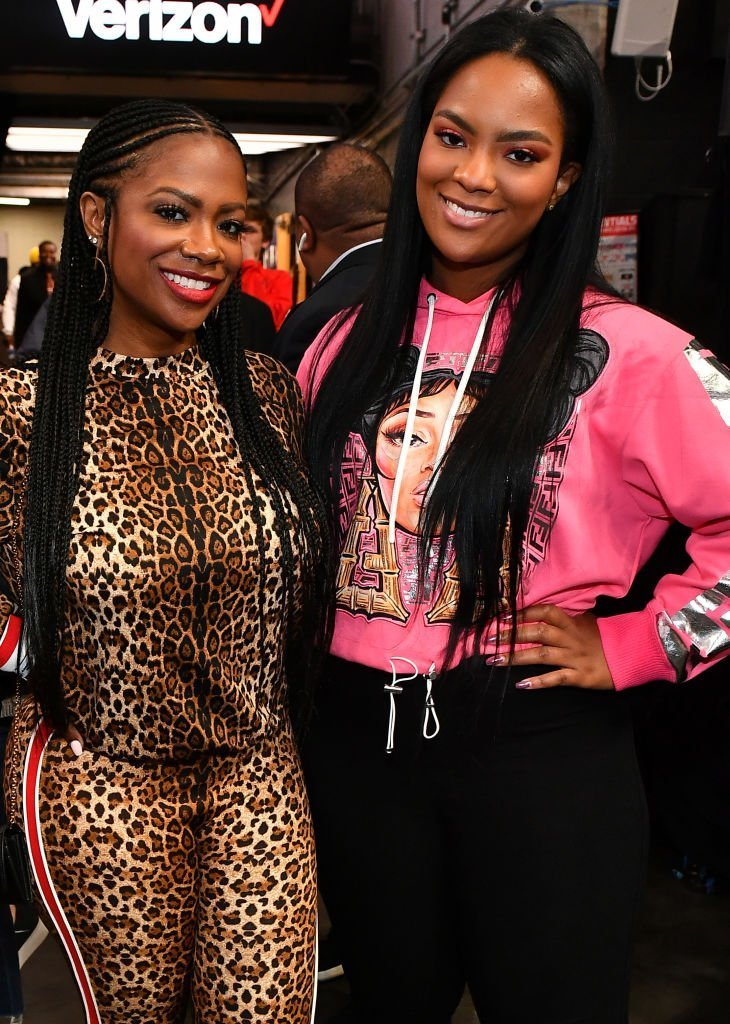 Kandi Burruss and Riley Burruss attend Los Angeles Lakers vs Atlanta Hawks at State Farm Arena | Getty Images