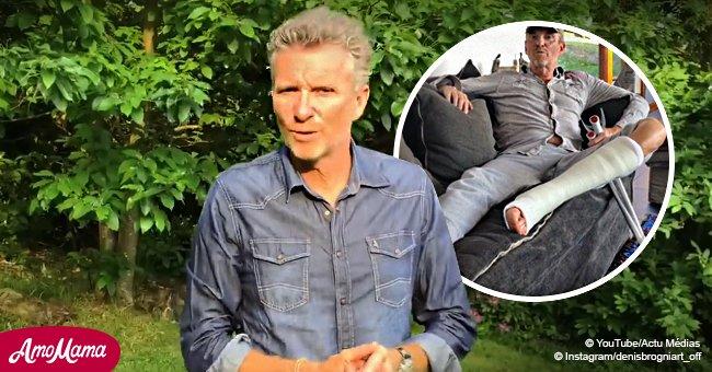 """Après son opération à la jambe, Denis Brogniart annonce une """"mauvaise nouvelle"""" à ses fans"""