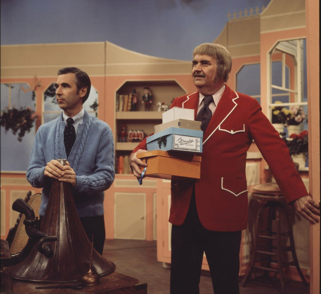 Fred Rogers and Bob Keeshan together on an episode of Keeshan's 'Captain Kangaroo' show, crica 1970s | Photo: Getty Images