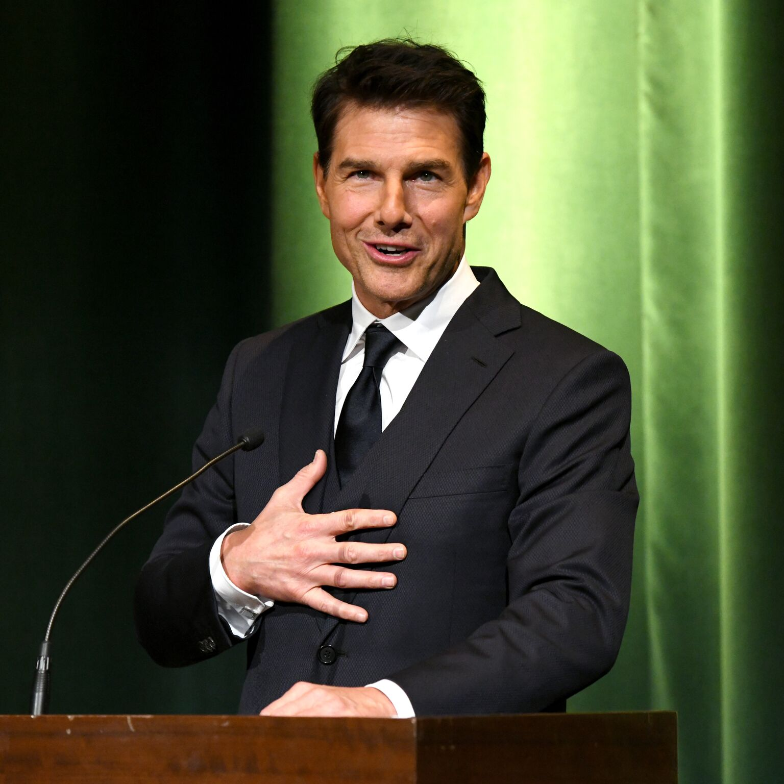 Tom Cruise speaks onstage during the 10th Annual Lumiere Awards at Warner Bros. Studios on January 30, 2019 in Burbank | Getty Images