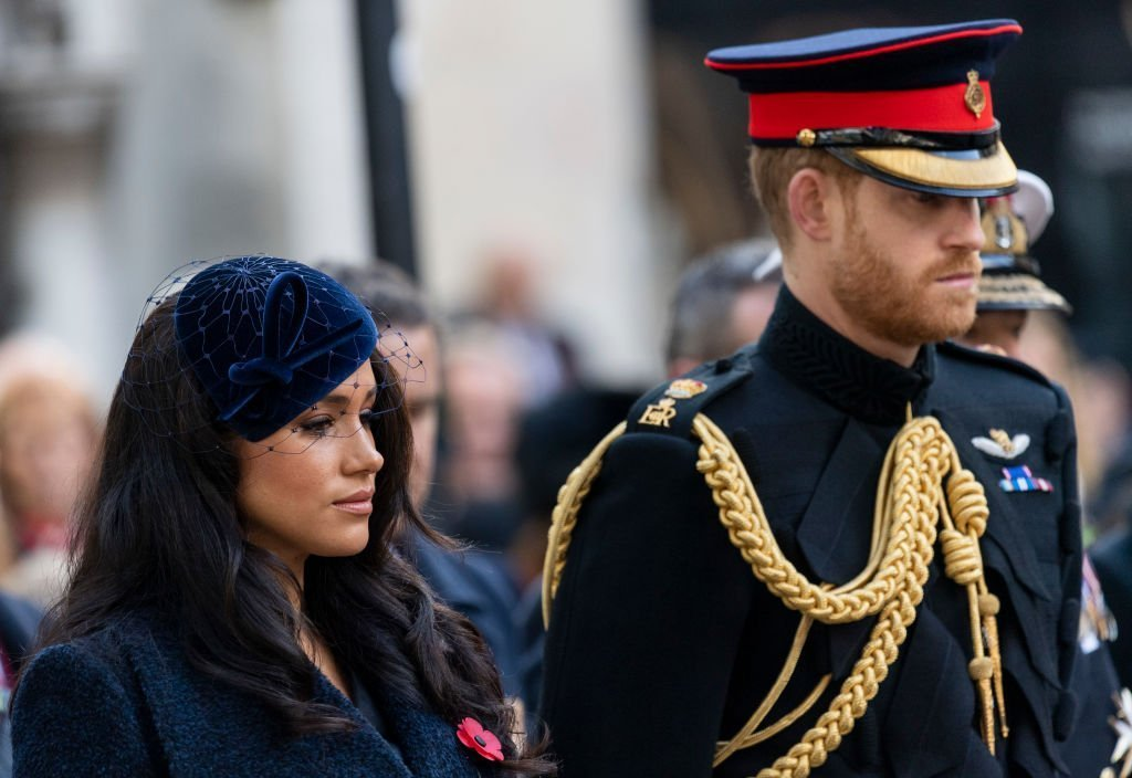 Meghan, Duchess of Sussex and Prince Harry, Duke of Sussex attend the 91st Field of Remembrance at Westminster Abbey | Photo: Getty Images