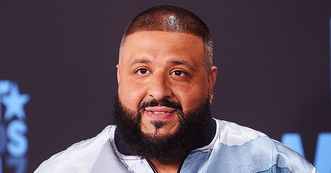 DJ Khaled's Son Ashad Chills in Dad's Office with Colorful Stuffed Flower Mats