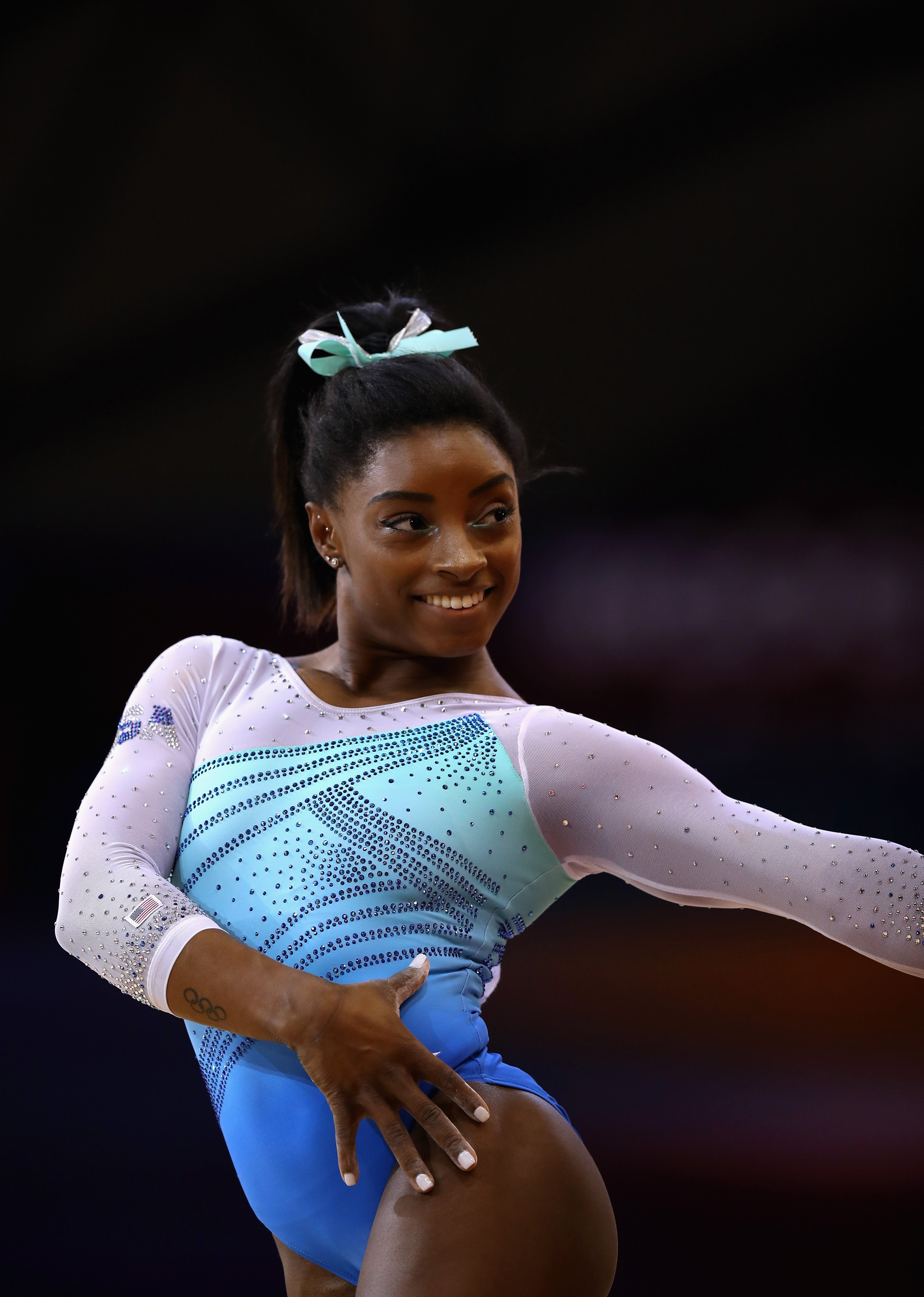 Simone Biles representing the US at the 2018 FIG Artistic Gymnastics Championships in Qatar on November 1, 2018. | Photo: Getty Images