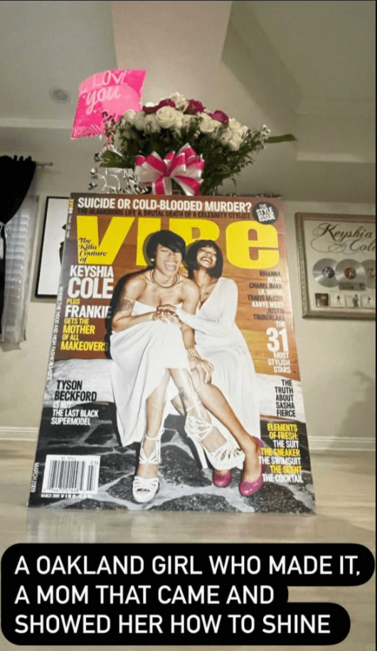Keyshia Cole shared a picture of an old magazine where she and her late mother, Frankie Lons, were featured.   Photo: instagram.com/keyshiacole