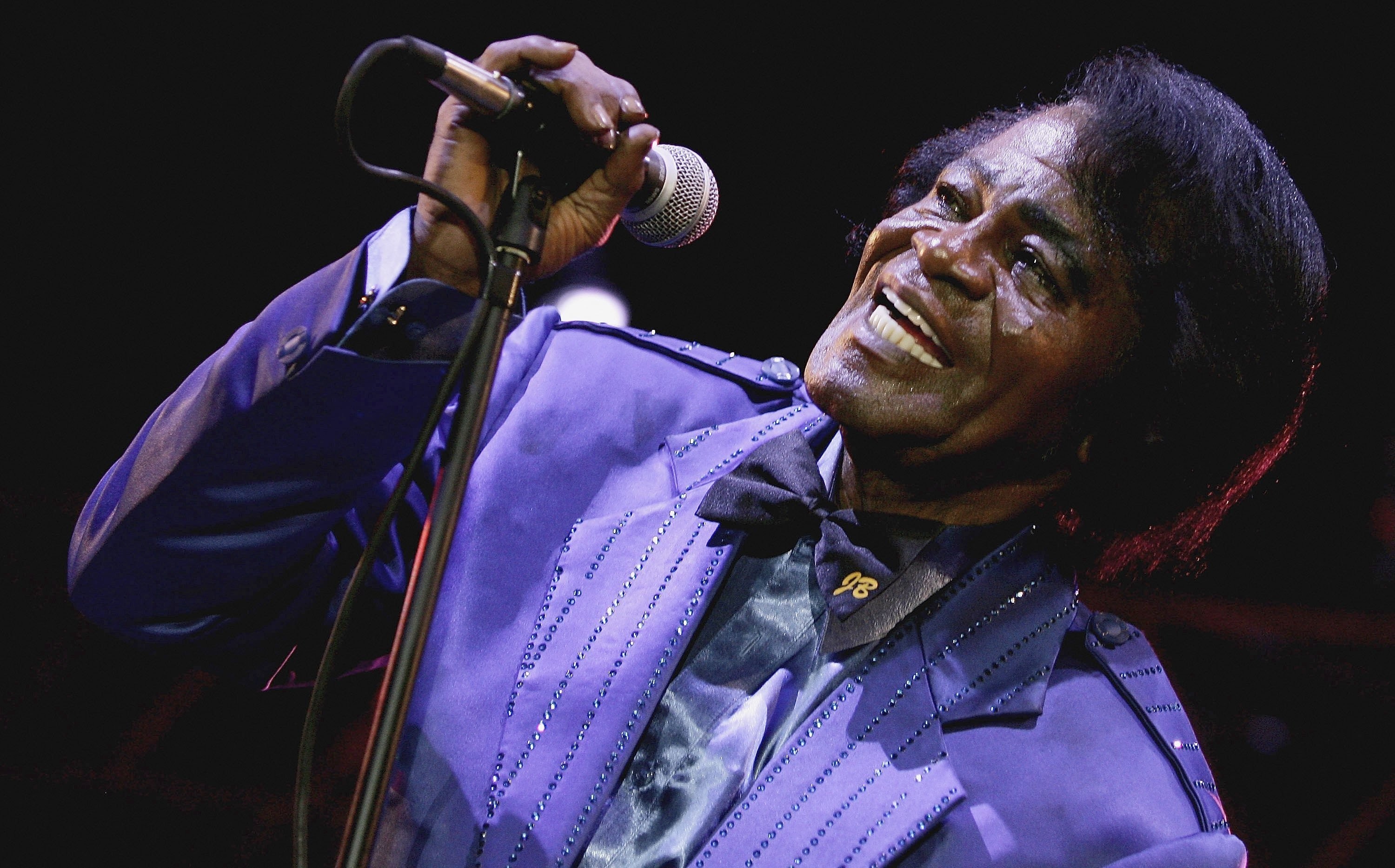 James Brown singing at HM Tower Of London Festival Of Music's inaugural jazz | Getty Images/ Global Images Ukraine