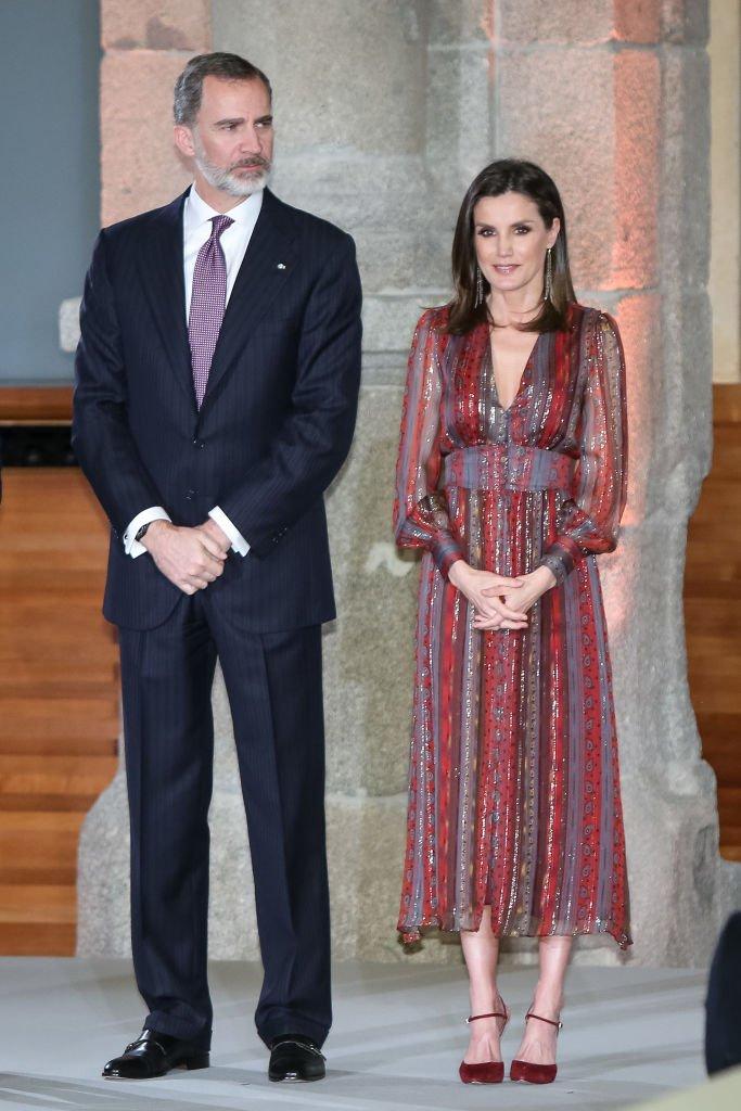 El rey Felipe VI y la reina Letizia asisten a los Premios Nacionales de Cultura en el Museo del Prado.   Foto: Getty Images