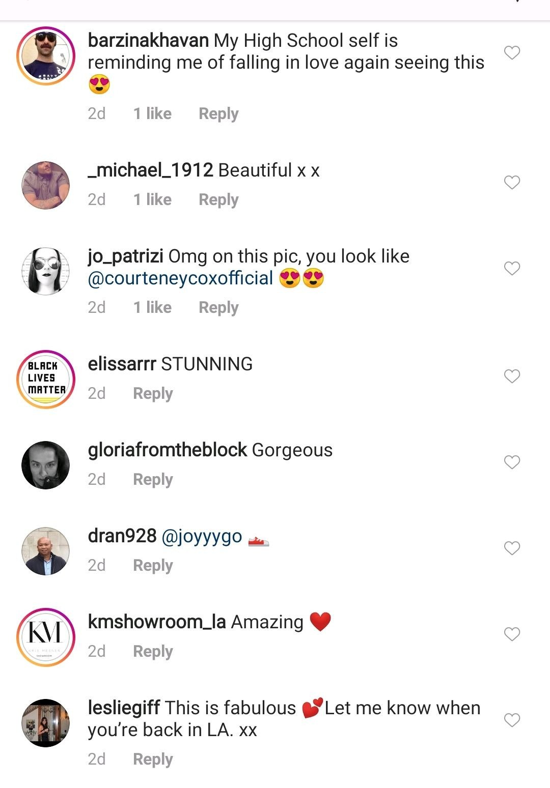 Comments on Demi Moore's page on Instagram   Photo: Instagram/demimoore