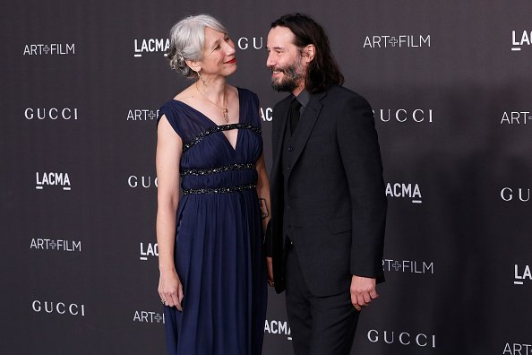 Alexandra Grant and Keanu Reeves at the 2019 LACMA Art + Film Gala on November 02, 2019 | Photo: Getty Images
