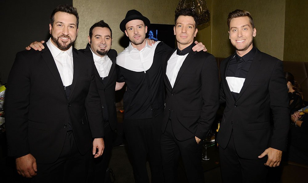 Joey Fatone, Chris Kirkpatrick, Justin Timberlake, JC Chasez and Lance Bass of N'Sync attending the 2013 MTV Video Music Awards in New York City. I Image: Getty Images.